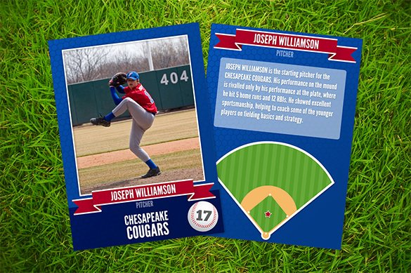 Baseball Card Template Photoshop New Baseball Card Template 9 Free Printable Word Pdf Psd Eps format Download