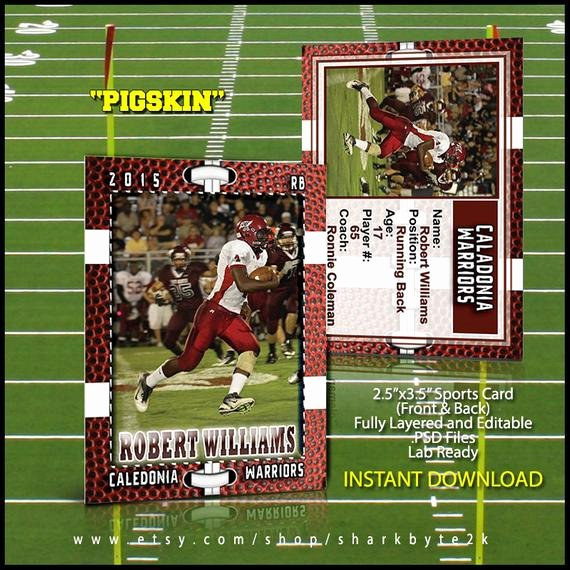 Baseball Card Templates Photoshop Beautiful Football Sports Trader Card Template for Shop by Sharkbyte2k