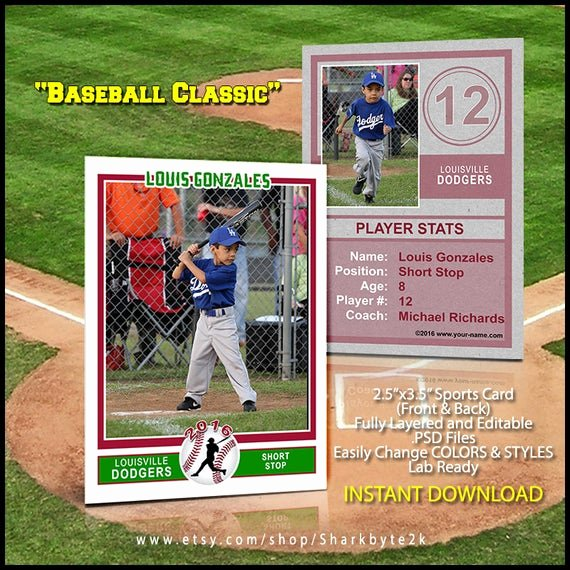 Baseball Card Templates Photoshop Fresh Baseball Sports Trader Card Template for Shop Baseball