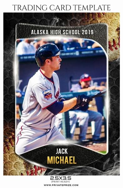 Baseball Card Templates Photoshop Inspirational Sports Trading Card Graphy Templates