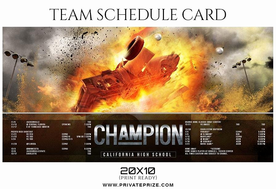 Baseball Card Templates Photoshop Luxury Baseball Team Sports Schedule Card Shop Templates