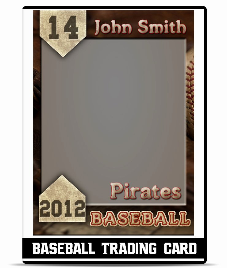 Baseball Card Templates Photoshop New Baseball – Trading Card Template