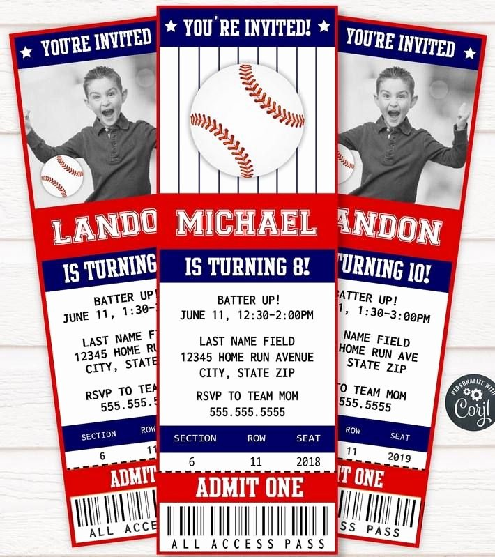 Baseball Ticket Birthday Invitations Beautiful Free Printable Baseball Ticket Invitation Free Printable Birthday Invitation