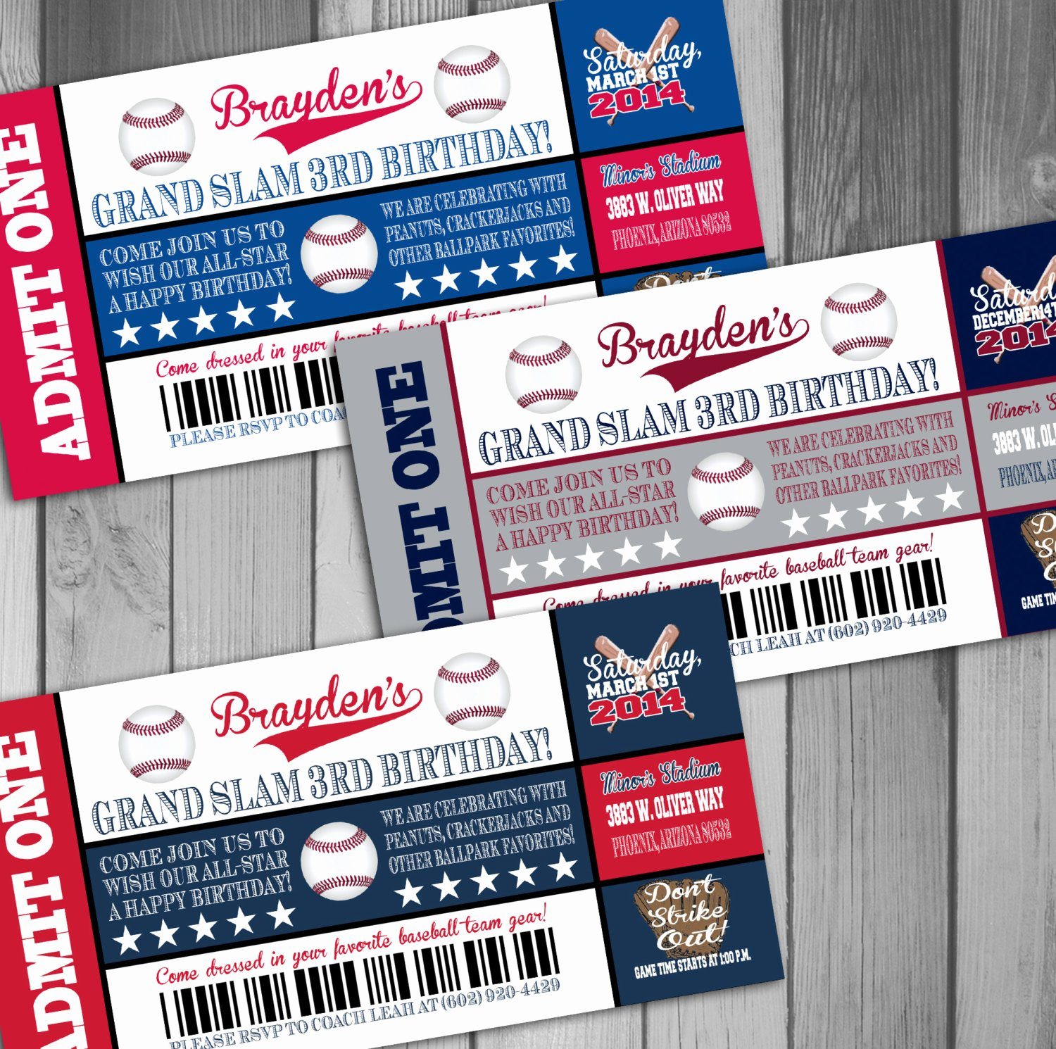 Baseball Ticket Birthday Invitations Fresh Baseball Birthday Ticket Invitations Sports by Claceydesign