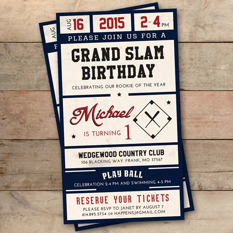 Baseball Ticket Birthday Invitations New Pin by Melissa Will On Mateo S Rookie Year