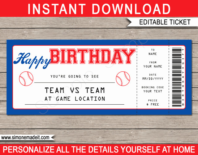 Baseball Ticket Invitation Template Free Best Of Baseball Ticket Template Free Download Free Download Printable Templates Lab
