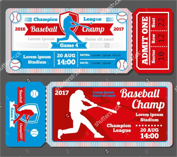 Baseball Ticket Invitation Template Free Best Of Baseball Ticket Template