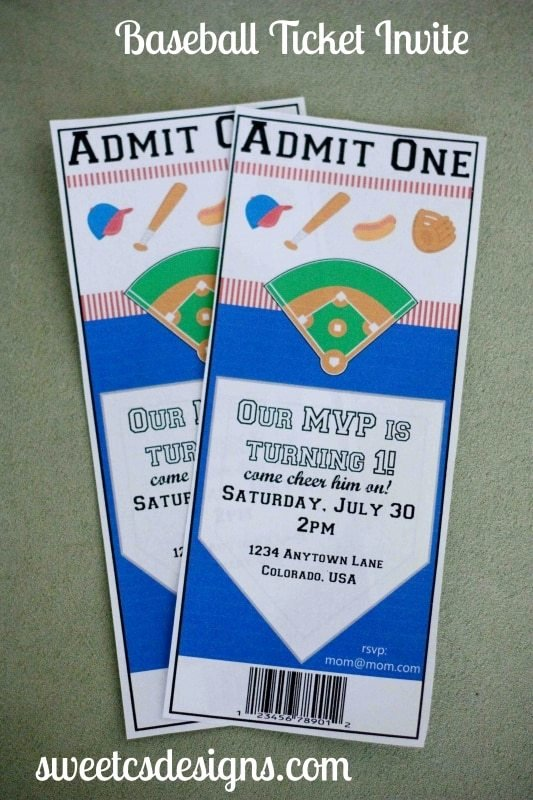Baseball Ticket Invitation Template Free Inspirational 7 Dinner Party Essentials Sweet C S Designs
