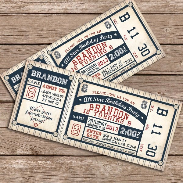 Baseball Ticket Invitation Template Free New 100 Baseball Party Ideas—by A Professional Party Planner