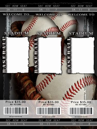 Baseball Ticket Invitation Template Free New Blank Baseball Ticket Template