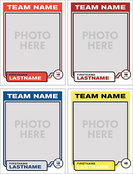 Baseball Trading Cards Template Beautiful top Baseball Card Template Clip Art Vector Graphics and Illustrations istock