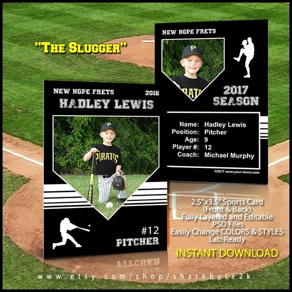 Baseball Trading Cards Template Best Of Baseball Card Template Perfect for Trading Cards for Your