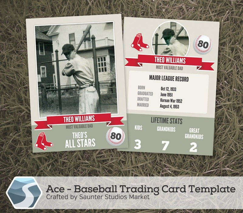 Baseball Trading Cards Template Elegant Ace Baseball Trading Card 2 5 X 3 5 Shop
