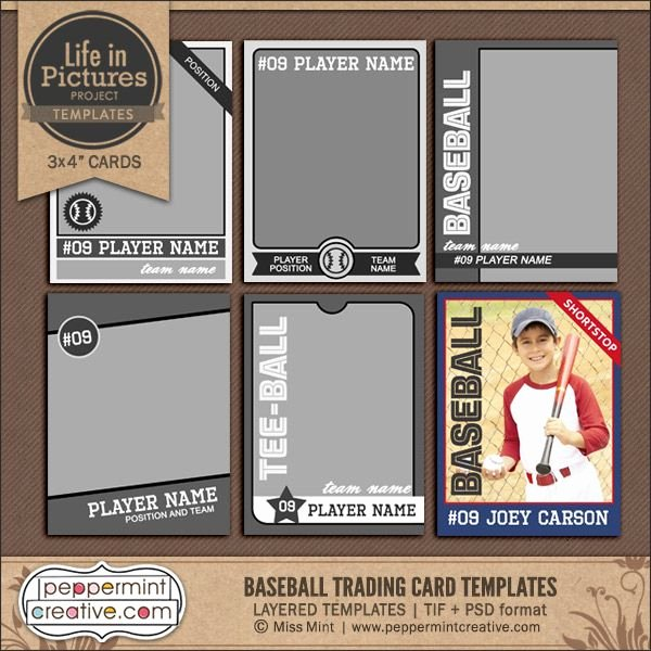 Baseball Trading Cards Template Fresh 18 Best Sports Cards Images On Pinterest