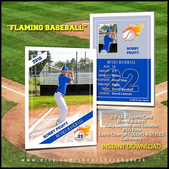 Baseball Trading Cards Template Fresh 2019 Baseball Card Template Perfect for Trading Cards for