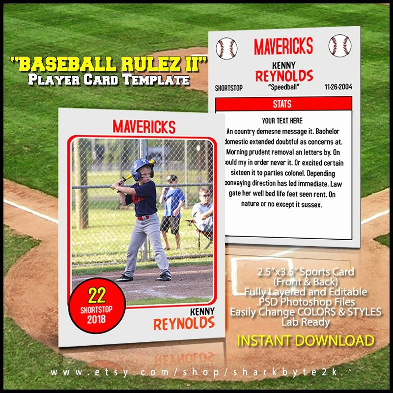 Baseball Trading Cards Template Lovely Baseball Card Template Perfect for Trading Cards for Your