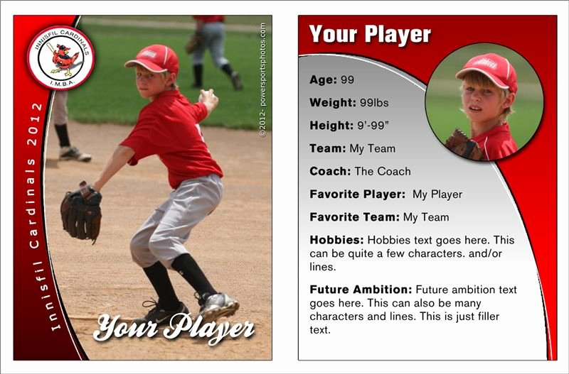 Baseball Trading Cards Template Unique Custom Baseball Trading Cards Photography