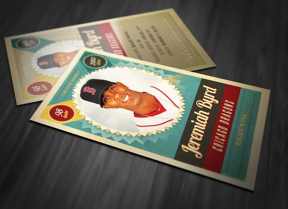 Baseball Trading Cards Template Unique Cute Idea for Kiddo Birthday Party