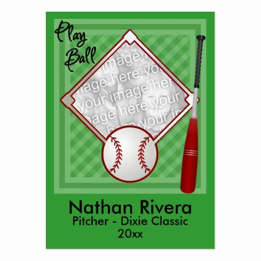 Baseball Trading Cards Template Unique Your Baseball Trading Card Business Cards Pack 100