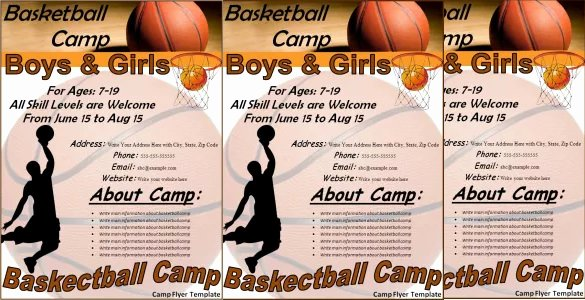 Basketball Camp Flyer Template Awesome 31 Basketball Flyers Psd Ai Vector Eps