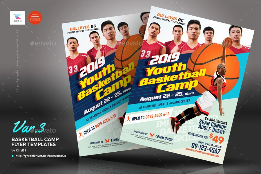 Basketball Camp Flyer Template Beautiful Basketball Camp Flyers by Kinzi21