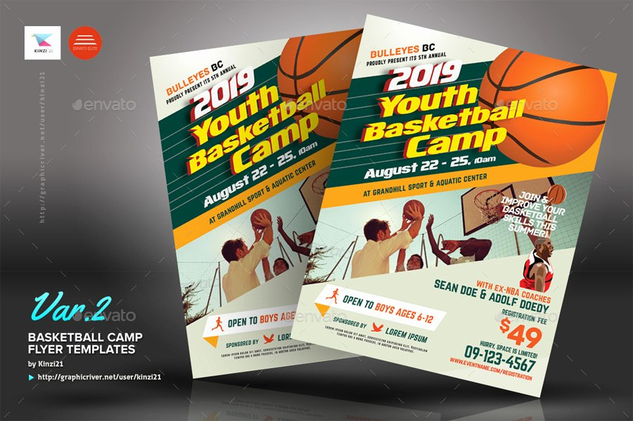 Basketball Camp Flyer Template Best Of Basketball Camp Flyers by Kinzi21