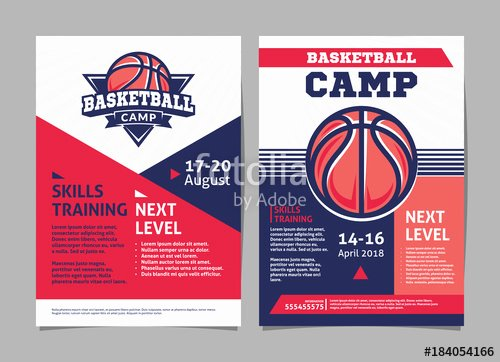 "Basketball Camp Flyer Template Best Of ""basketball Camp Posters Flyer with Basketball Ball Template Vector Design"" Stock Image and"