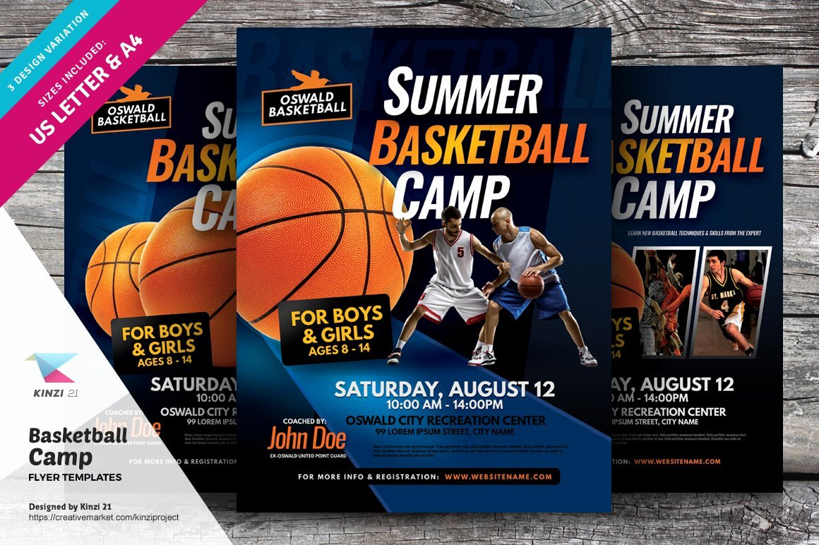 Basketball Camp Flyer Template Inspirational Basketball Camp Flyer Templates Flyer Templates Creative Market