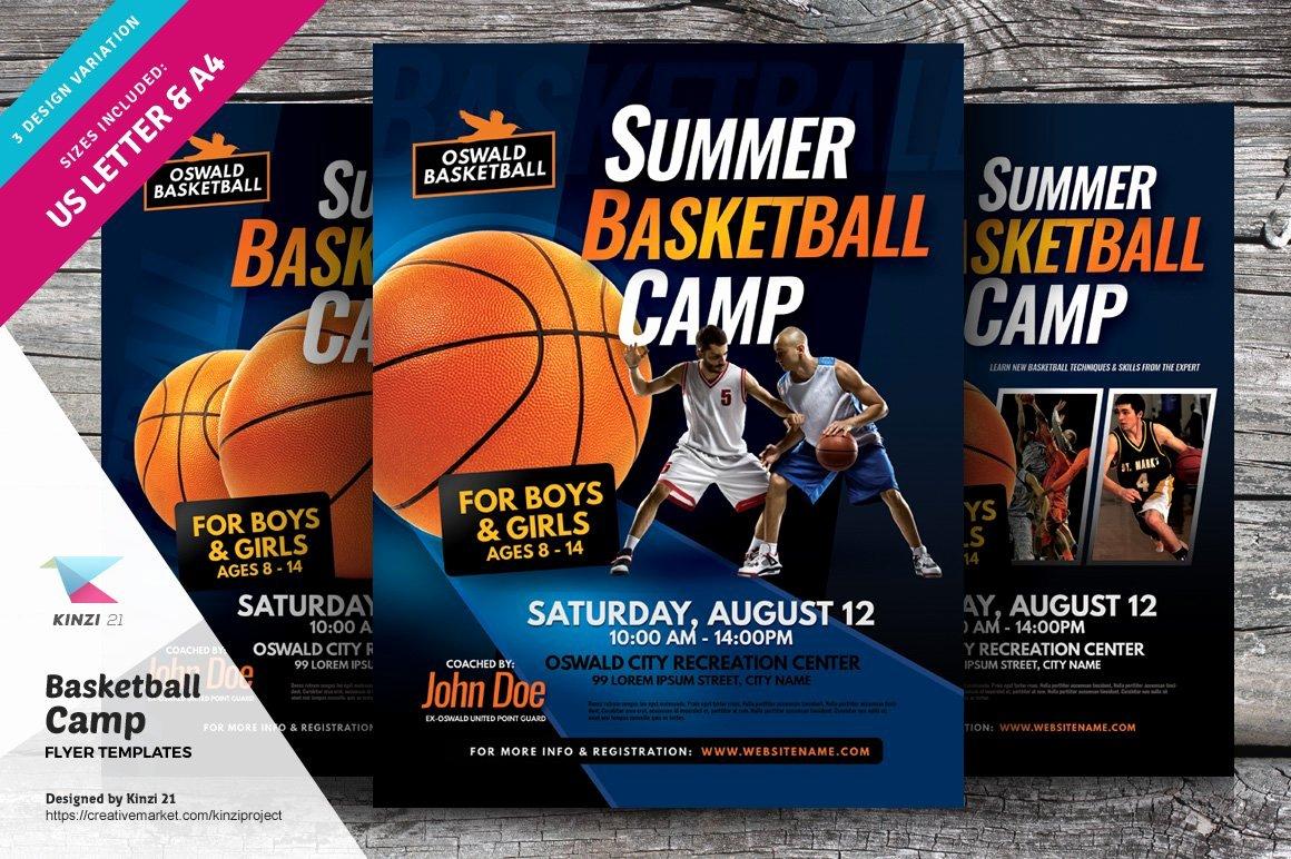 Basketball Camp Flyer Template Inspirational Basketball Camp Flyer Templates Flyer Templates Creative Market