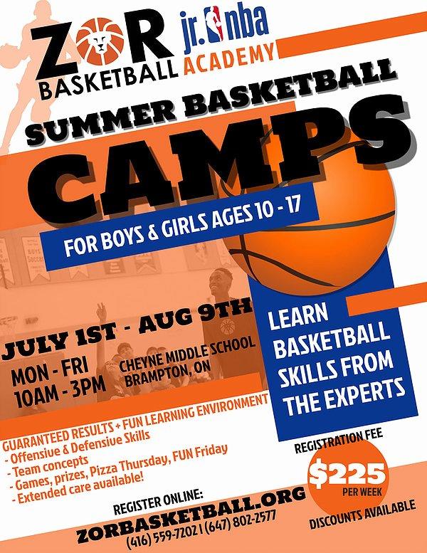 Basketball Camp Flyer Template Inspirational Zor Basketball Camps Basketball Training Basketball Brampton Raptors