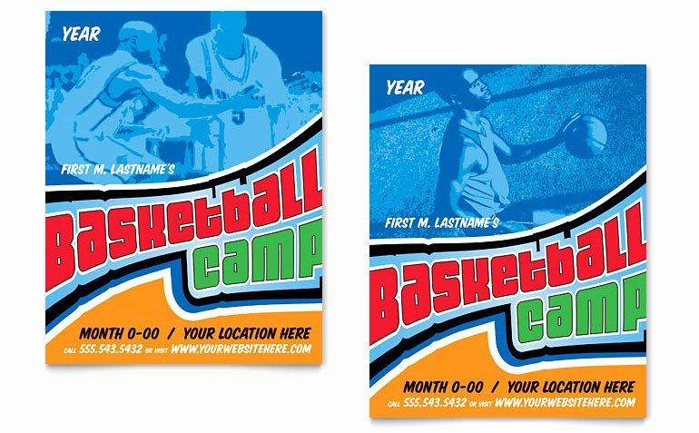Basketball Camp Flyer Template New Basketball Sports Camp Poster Template Word & Publisher