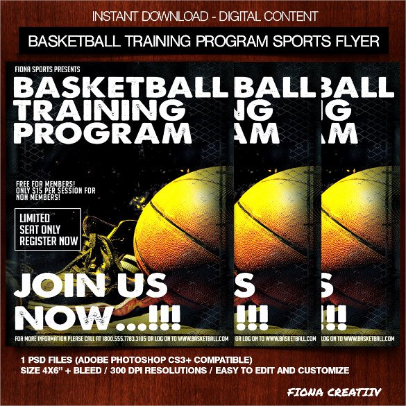 Basketball Camp Flyer Template Unique Basketball Flyer Template 24 Download Documents In Pdf Psd Illustration Vector Eps