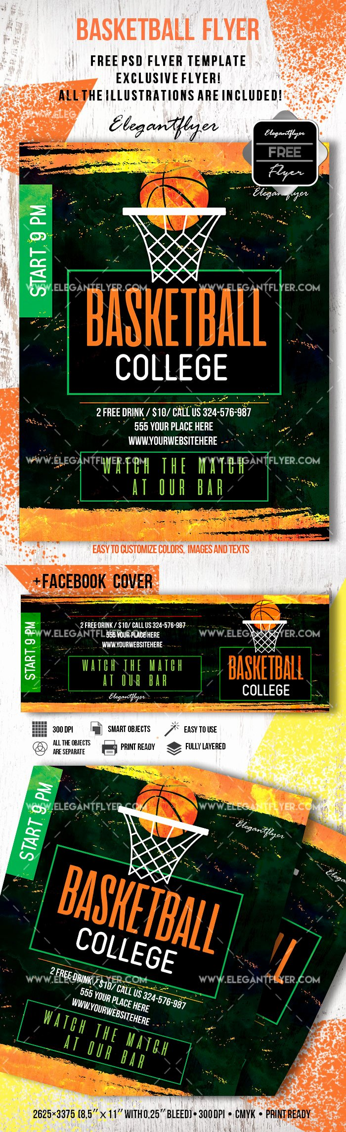 Basketball Flyer Template Free Awesome Free Basketball Flyer Template – by Elegantflyer