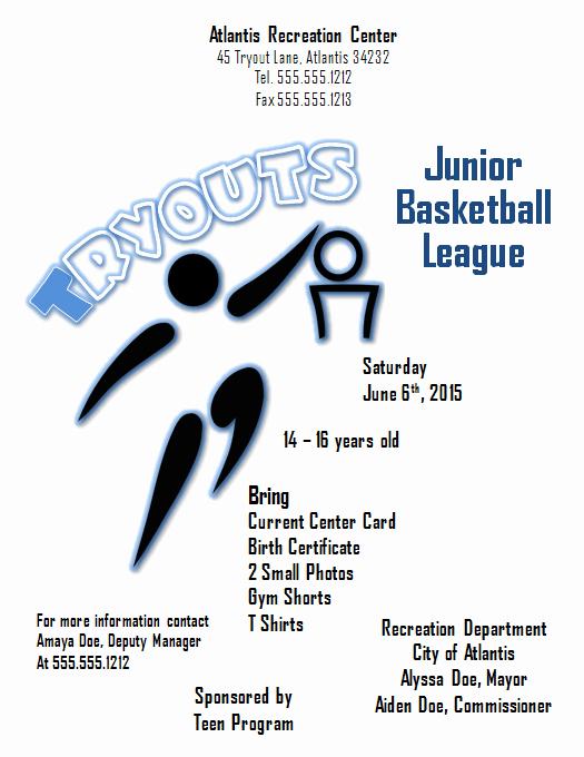 Basketball Flyer Template Free Elegant Download A Free Basketball Tryouts Flyer Template