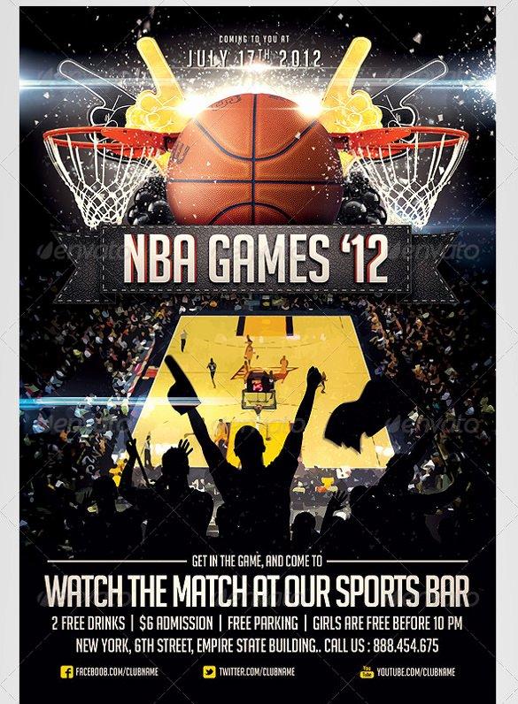 Basketball Flyer Template Free Lovely 31 Basketball Flyers Psd Ai Vector Eps