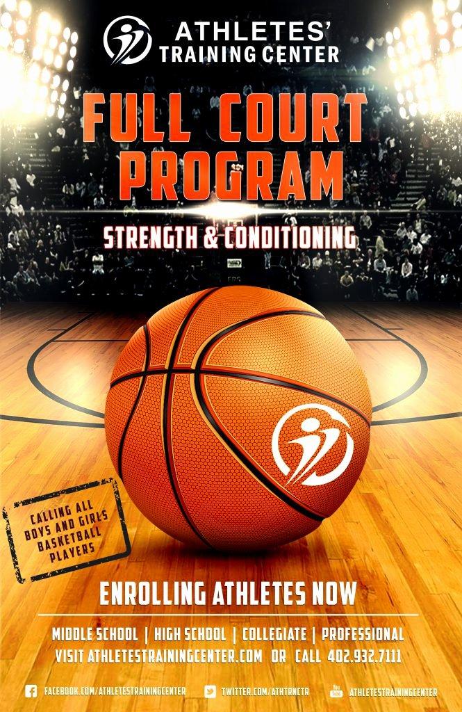 Basketball Flyer Template Free New Full Court Program