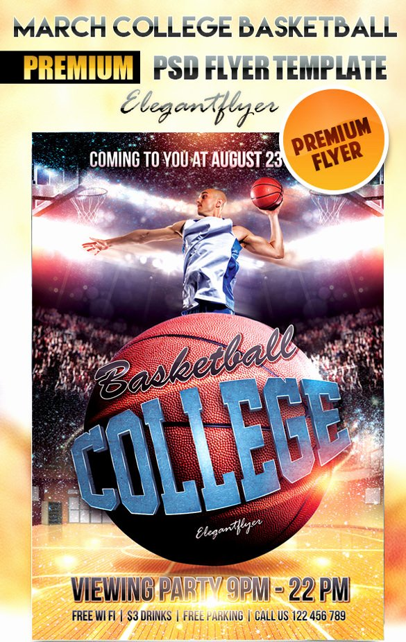 Basketball Flyer Template Free Unique 31 Basketball Flyers Psd Ai Vector Eps