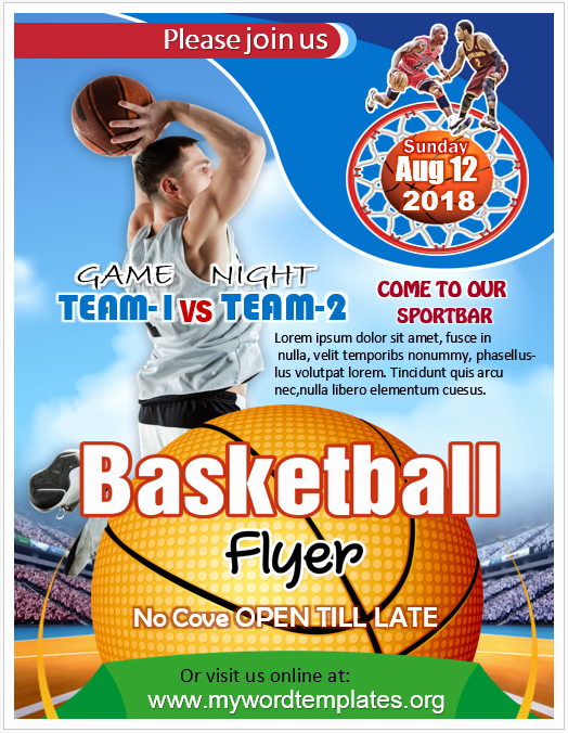 Basketball Flyer Template Free Unique Basketball Flyer Templates 2 Unique Free Word Templates