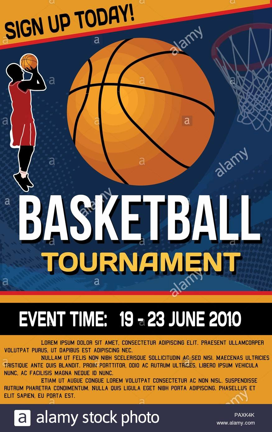 Basketball tournament Flyer Template Fresh Basketball tournament Flyer or Poster Background Vector Illustration Stock Vector Art