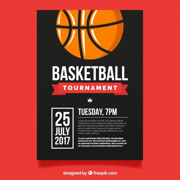 Basketball tournament Flyer Template Fresh Basketball tournament Flyer Vector