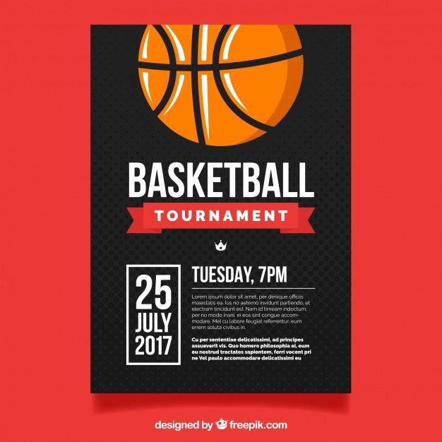 Basketball tournament Flyer Template Fresh Basketball tournament Flyer Vector