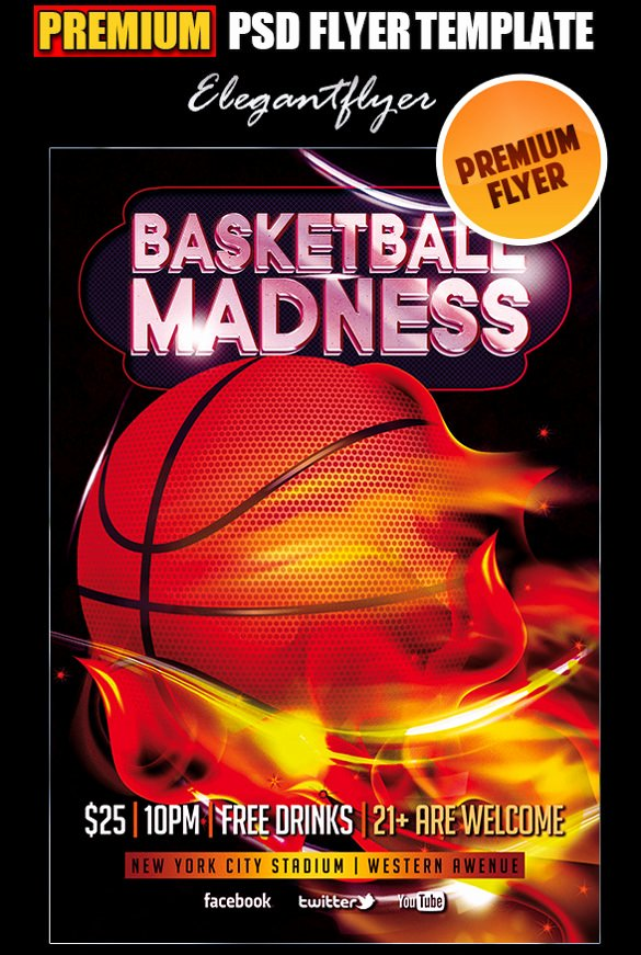Basketball tournament Flyer Template Inspirational 31 Basketball Flyers Psd Ai Vector Eps