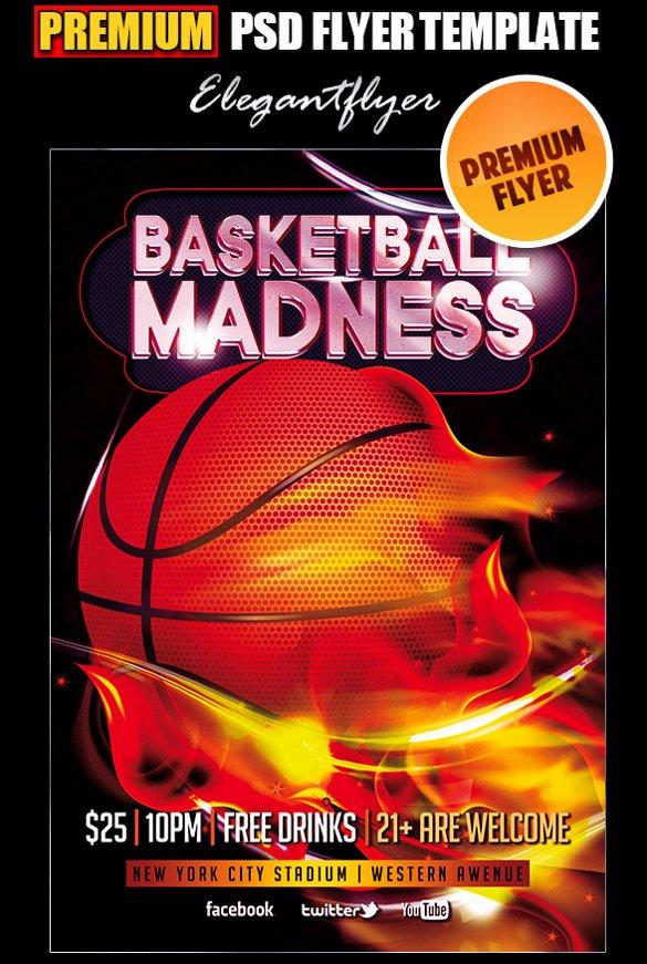 Basketball tournament Flyer Template Inspirational 31 Basketball Flyers Psd Ai Vector Eps