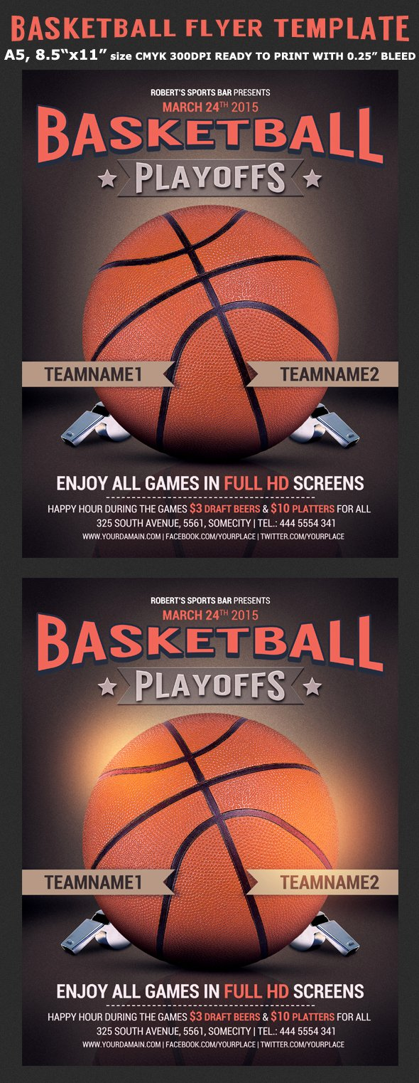 Basketball tournament Flyer Template Lovely Basketball Flyer Template