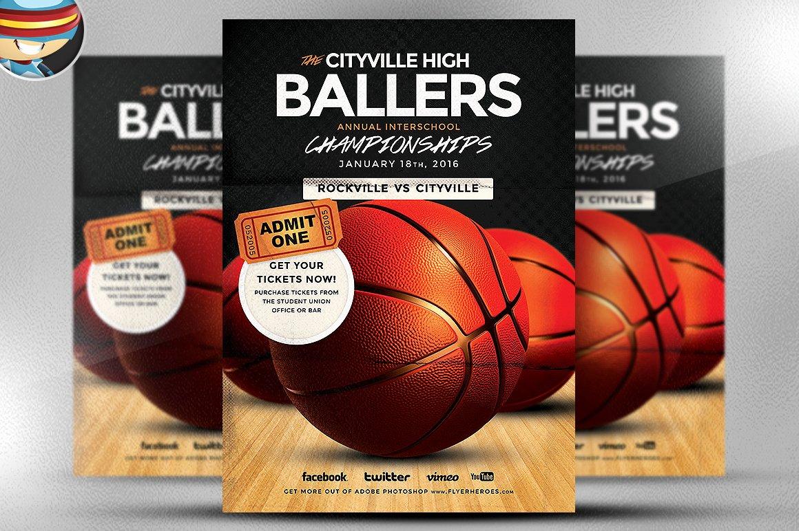 Basketball tournament Flyer Template Luxury Basketball Flyer Template Flyer Templates On Creative Market
