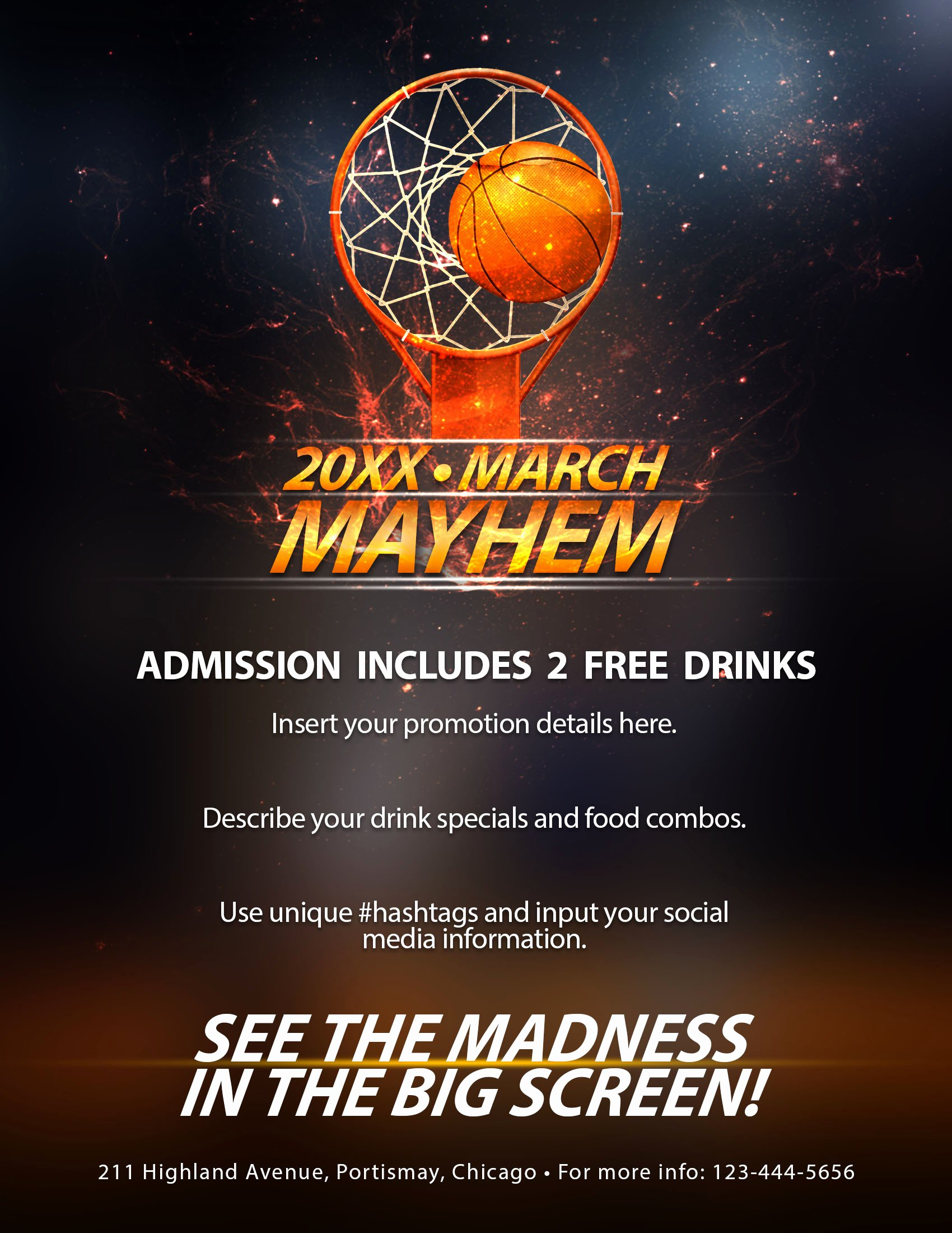 Basketball tournament Flyer Template Luxury the Madness Begins Free 5 Basketball Flyers In Psd for the Big tournament