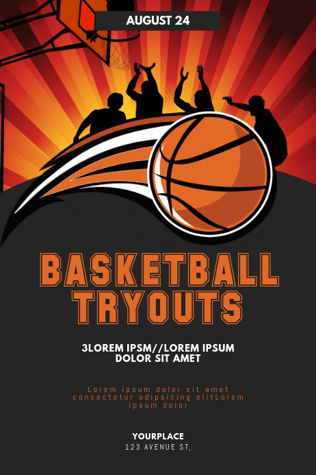 Basketball Tryout Flyer Template Beautiful Basketball Tryouts Flyer Template