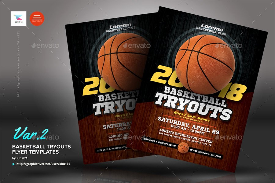 Basketball Tryout Flyer Template Beautiful Basketball Tryouts Flyer Templates by Kinzi21