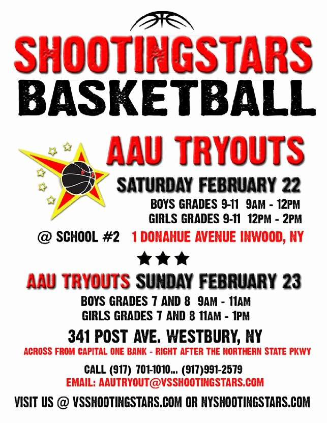 Basketball Tryout Flyer Template Beautiful Shootingstars Basketball Program