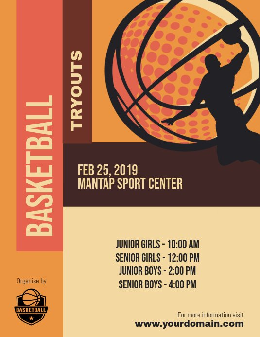 Basketball Tryout Flyer Template Best Of Basketball Tryouts Poster Flyer Template